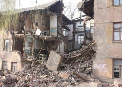 Дом после разрушения