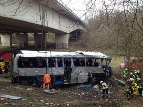 Авария автобуса в Бельгии