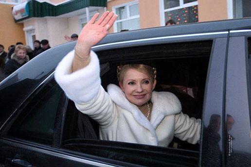 Юлия Тимошенко в авто