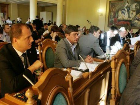 Заседание сессии Львовского городского совета