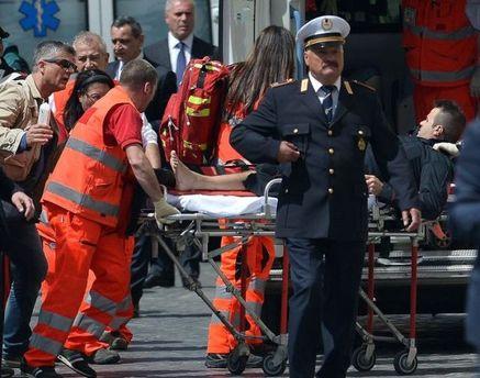 Один из пострадавших полицейских