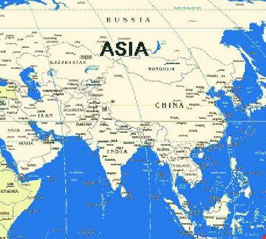 Азія на карті