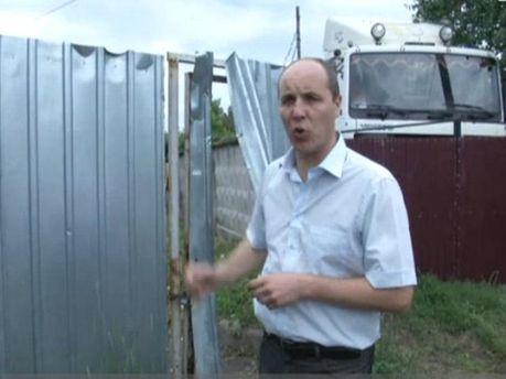 Андрей Парубий во Врадиевке