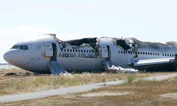 Літак, що невдало приземлився у Сан-Франциско