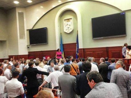 Блокування Київради