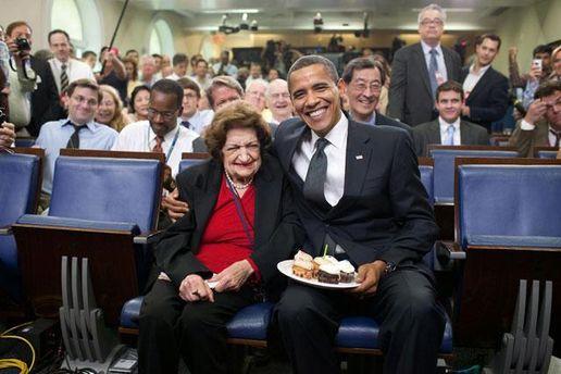 Хелен Томас та Барак Обама