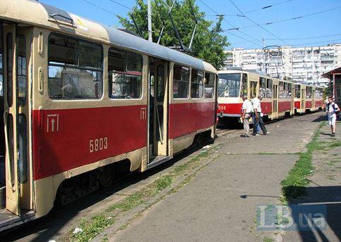 Трамвай в Киеве