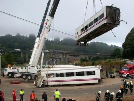 Авария поезда в Испании