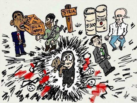 Россия в карикатурах западных художников