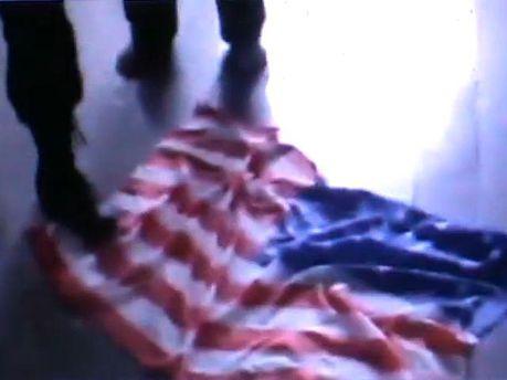 Розтоптали прапор США
