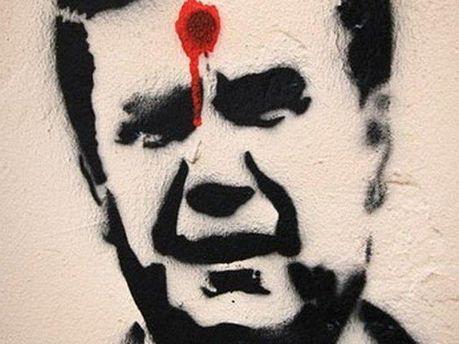 Рисунок человека, похожего на Виктора Януковича