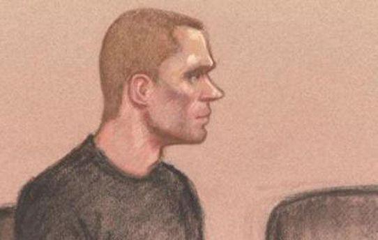 Зображення Павла Лапшина під час засідання суду