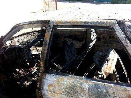 Взорванное авто