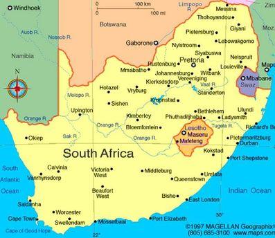 Карта ПАР