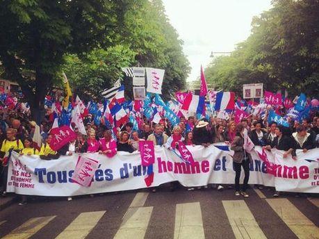 Акция против гей-браков в Париже