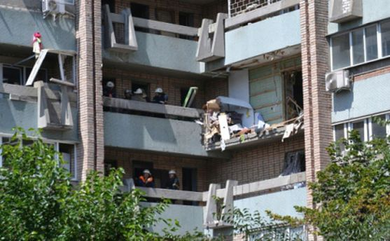 Дом, который взорвался в Луганске