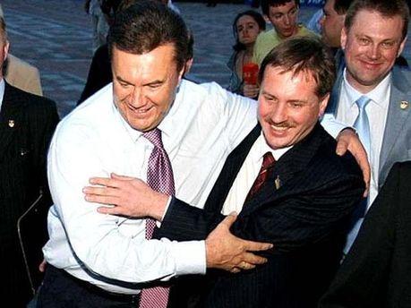 Тарас Чорновил с Виктором Януковичем