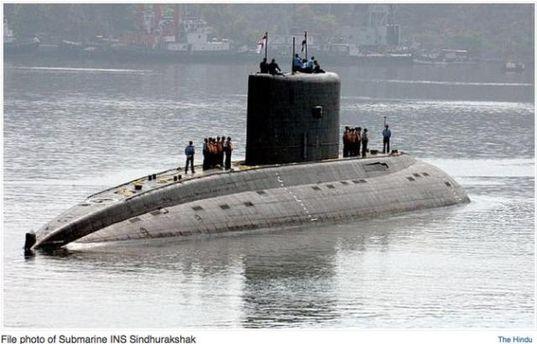 Подводная лодка INS Sindhurakshak до взрыва