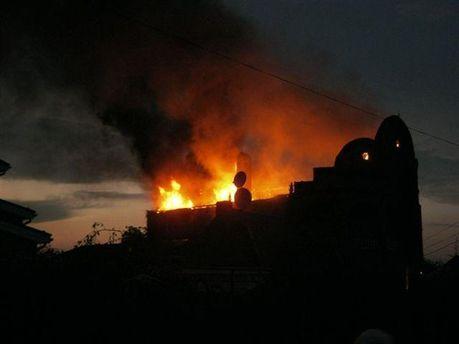 Пожар возле Горловки