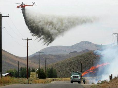 Лісова пожежа в штаті Айдахо