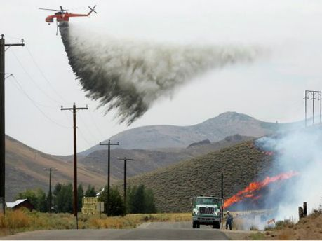 Лесной пожар в штате Айдахо