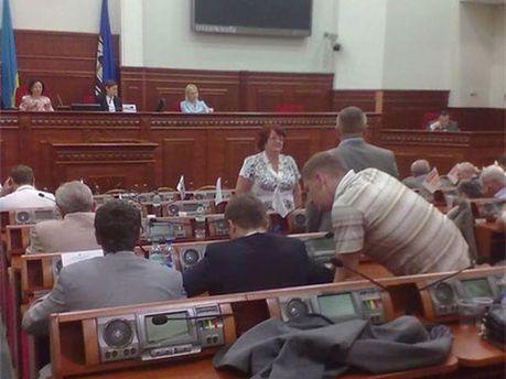 Сессионный зал Киевсовета