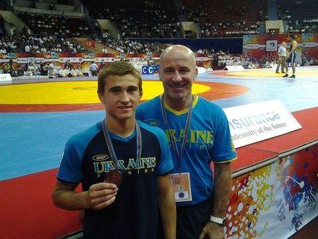 Андрей Яценко с медалью