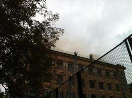 Пожар в медуниверситете