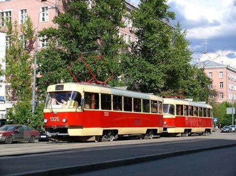 В столице загорелся трамвай