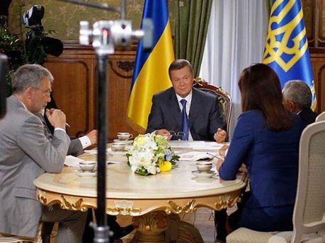 Інтерв'ю із Віктором Януковичем
