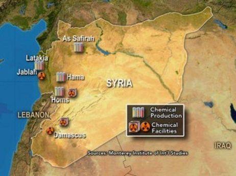 Сирия на карте