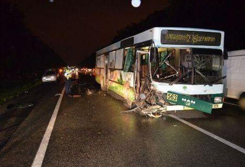 Автобус MAN после аварии