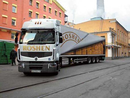 Вантажівка з продукцією Roshen