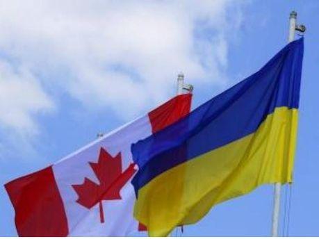 Прапор України та Канади