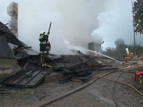 Пожар в психбольнице под Новгородом