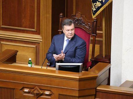 Віктор Янукович в Раді