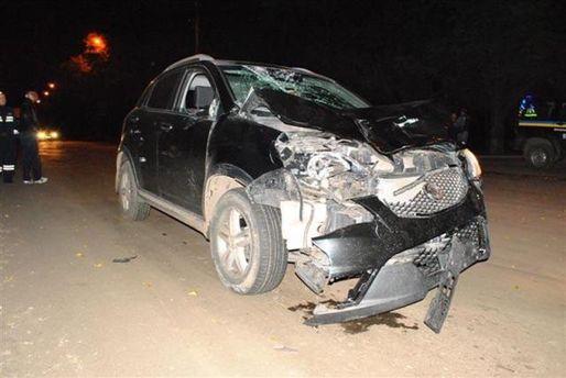 SsangYong Korando после столкновения