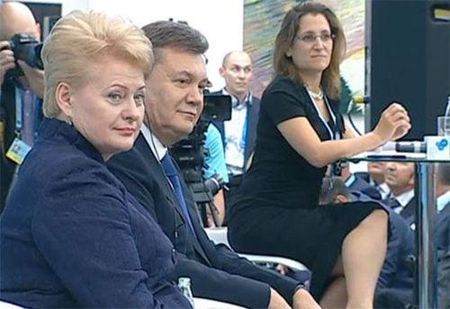 Віктор Янукович та Даля Грибаускайте