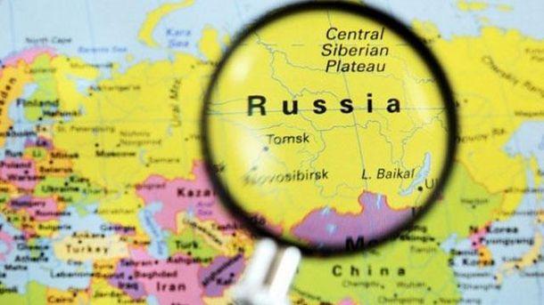 Росія на карті