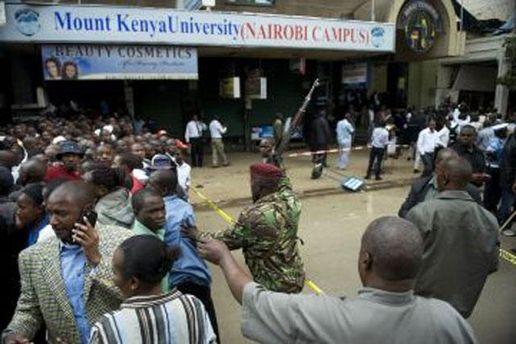 Место теракта в Найроби