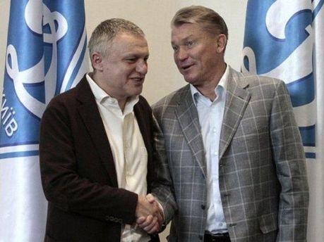 Игорь Суркис и Олег Блохин