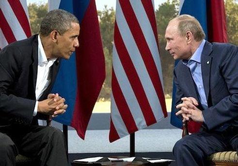 Барак Обама та Володимир Путін