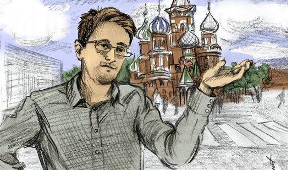 Нарисованный Эдвард Сноуден
