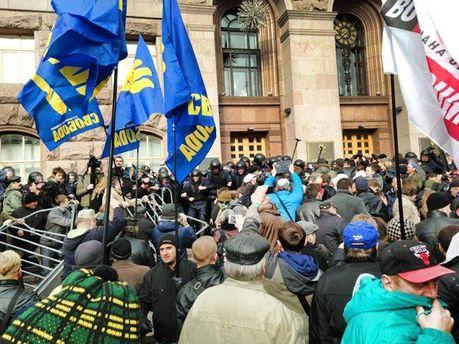 События под Киевсоветом сегодня
