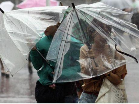 Сильный дождь в Японии
