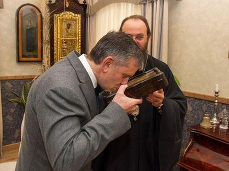 Михайло Зурабов в Лаврі