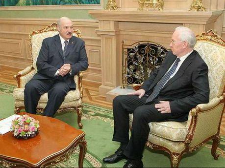 Микола Азаров та Олександр Лукашенко