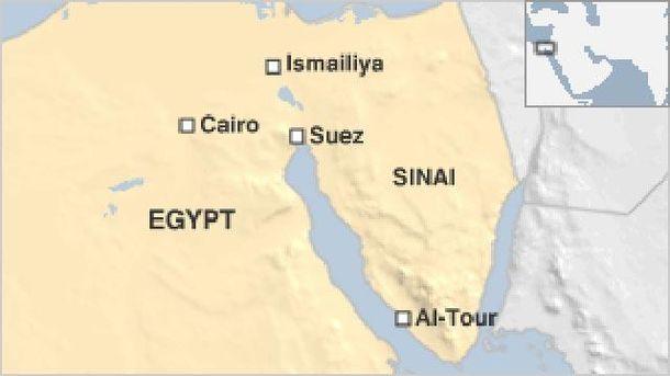 Места атак в Египте