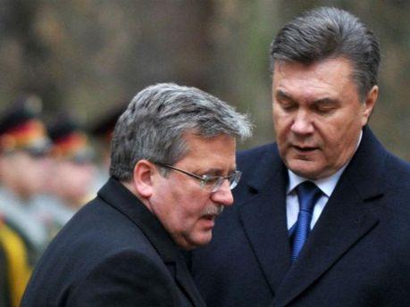 Виктор Янукович и Бронислав Коморовский