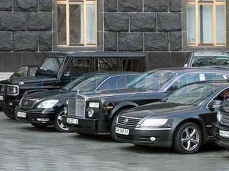 Машины под Верховной Радой